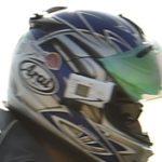 ヘルメット装着のアクションカメラ HDR-AS300 内蔵マイクと外部マイクの比較